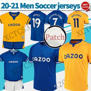 وإيفرتون رقم 19 JAMES كرة القدم بالقميص المنزل بعيدا 2021 الرجال الاطفال كرة القدم قميص رقم 7 RICHARLISON # 26 زي DAVIES مخصص لكرة القدم