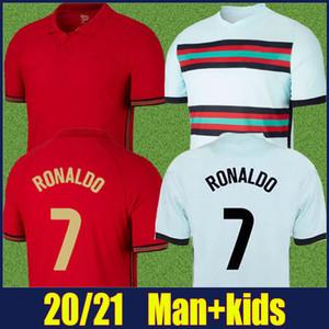 2020 Portugal Jersey Team National Team Shirt Bernardo Ronaldo Jersey Jersey Homme Kit Kit Pepe Neves Joao Felix B.Fernandes Jersey de football 20/21