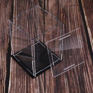 Acrílico claro Display Case Dustproof Modelo Figuras Protection Box 16x16x20cm