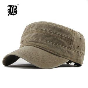 [FLB] 2020 Classic Vintage Flat Top Erkek Caps Yıkanmış Ve Şapka Ayarlanabilir Gömme Daha kalın Cap Kış Sıcak Şapka MenF314 İçin