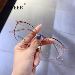 JASPEER Mode Brillen Retro Oval Brillenfassungen Frauen Männer Mode Glas-Rahmen Vintage-Myopie Hyperopie Optical