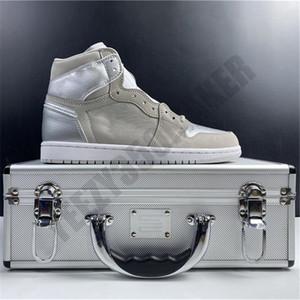 2019 1 1s Giappone pattini di pallacanestro del contenitore di metallo del cuoio del progettista rialzato Nuova Moda Uomo allenatori sportivi Sneakers DC1788-029 Dimensione 7,5-13