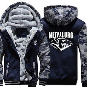 KHL Russisch Ausbildung Hockeyer Metallurg Magnitogorsk Hoodies Camouflage Ärmel Pullover Winter-Jacken-Sweatshirts Mantel