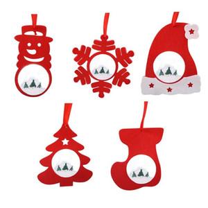 Snowflake Weihnachtskugel-Anhänger Weihnachtsbaum Ornamente Wohnkultur 5Pcs Garten Dekoration Hanging Kindergeschenke Drop Shipping