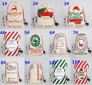 أكياس عيد الميلاد الأحمر مخطط أكياس أكياس سانتا كيس الرباط حقيبة قماش الحلوى حقيبة عيد الميلاد ديكورات حزب اللوازم DA930