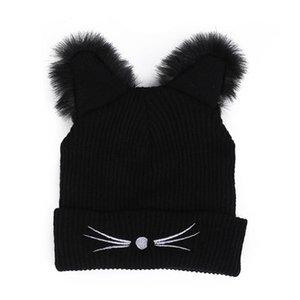 Girl Women Fashion Punk Devil Cat Ear Hip Hop Winter Warm Beanie Hat Cap Gift