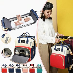 Diaper Bag Multifuncional bebê cama dobrável Bags Moms e Dad Backpack Maternidade Enfermagem Handbag Stroller Bag Drop Shipping