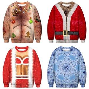 Giacche Lettera di Natale con cappuccio casuale delle donne del cappotto a maniche lunghe Felpe calda camicette pullover Outwear Jumper