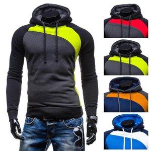 ZOGAA Пуловеры Толстовка Мужчины Осень Толстого капюшон толстовка Man заплатка фуфайка Hip Хмель Мужчина Повседневная марка одежда