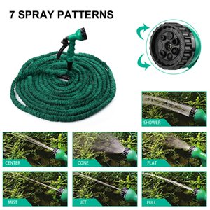 100 FT Long Expanding Flexible Garden Water Hose with Spray Nozzle Latex Green