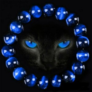 6/8/10 / 12mm schöne blaue für Männer und Frauen natürlichen Tigerauge Stein Perlenarmband Buddha Armbänder Unisex