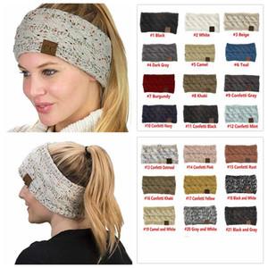 CC a maglia fascia di Headwrap del cappello 21 Stili fasce dei capelli delle donne Crochet Twist scaldino dell'orecchio fascia Accessori per capelli bambini grandi cappelli 20pcs E