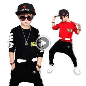 Bibihou Vêtements fille Ensembles bébé bébé Sport Set Kid Top + Sarouel Costume Set enfant en bas âge à rayures Vêtements Survêtement Hip hop