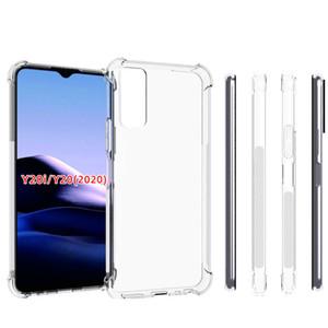 Vivo S5 için Vivo Y17 Y20 Y20I 2020 Crystal Clear Cep Telefonu Kılıf Darbeye Şeffaf TPU Kapaklar için