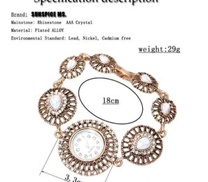 SUNSPICE MS Morocco Vintage Round Wrist Watch Charm Bracelet For Women Hollow Metal Chain Turkish Design Wedding00
