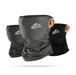 Half Designer Face Masque Bandana Skin Cool Soie de glace respirante Protection UV Sports Sports Headwear Vélo Magic Bandeau Foulard Foulard Visage Sharid DHC2053