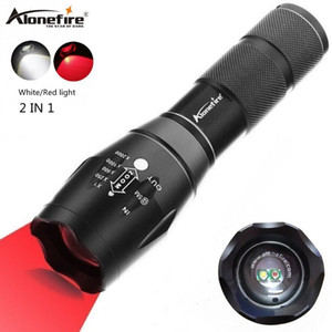 Alonefire G700-WR 2in1 White + rotes Licht superhellen LED-Taschenlampe Zoomable Tactical Fackel-Knopf für Hinking Camping Y200727