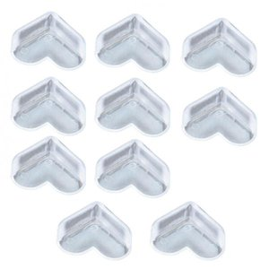 10 Pieces Transparent Baby Proofing Table Corner Guards Protector Cushion 3 Styles Available