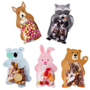 Candy Box Candy Bags Cookie Bags 10pcs lot Cute Bear Gift Animal Baby Shower Popular Birthday Party Greeting Cards