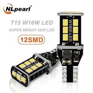 NLpearl 2x Signal Lamp T15 W16W Led Canbus Car Bulbs 12V 2835 SMD W16W LED 921 912 Backup Light Reverse Lamp White Red Yellow