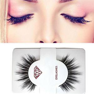 1 Pair =2 Pcs High Quality False Eyelash Extension 3D Mink Strip Lashes Faux Natural Mink Eyelashes Extension Packaging