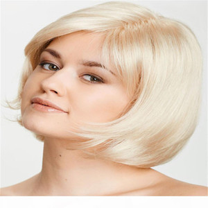Full Lace Wigs Human Hair lace wig Full Lace Human Hair Wig Senior Silk Long Wavy Brazilian Virgin Hair 100% With Bangs For women Color 60#