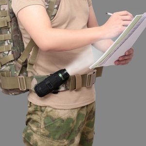Tactical 360 Degrees Rotatable Flashlight Pouch Holster Torch Case For Belt Portable Torch Cover Holder Hunting Lighting
