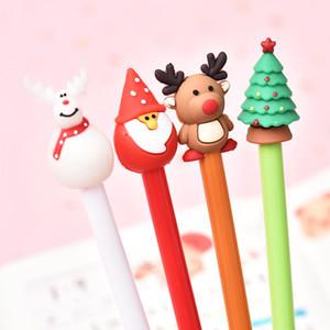 Black Ink Gel Pen bonito do Natal dos desenhos animados Gel Escritório Estudante Assinatura presente do dia de Natal Partido Mall Shopping Teste Pen Stationery w-00242