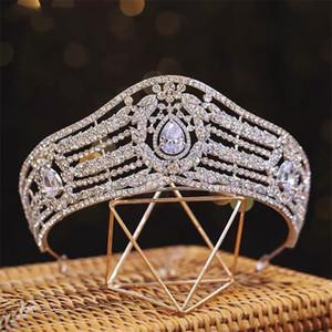 Royal Queen Tiara Crown Wedding Bridal Crystal Rhinestone Headband Headpiece Jewelry Party Prom Fashion Hair Accessories Ornament Headdress