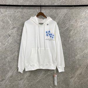 2020AW OFF Herbst und Winter WHITE OW Druck lose beiläufige Sport Rundhals Hoodie Männer und Frauen lange Hülsen-Sweatshirts 092606-03