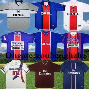 90 92 Retro Paris Anelka Okocha Weah futbol Jersey 06 07 12 13 93 94 95 96 98 99 IBRAHIMOVIC klasik Futbol gömlek