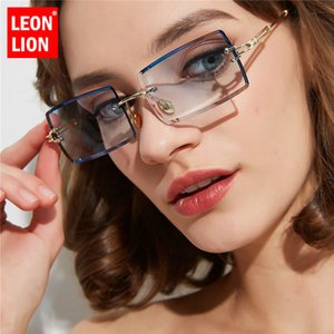 Concepteur Leonlion Leonlion Retro Femmes Gradient Vintage Marque Feminino Femmes Sunglasses Lunettes de soleil Lunettes Sabim Sabim