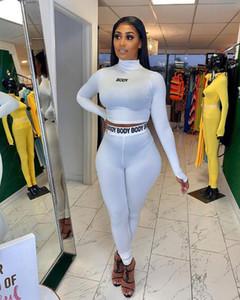 Eşofman Spor Salonu Pant Spor Giyim Egzersizi Tozluklar Kıyafetler Running Harf Spor Suit Kadın Dikişsiz
