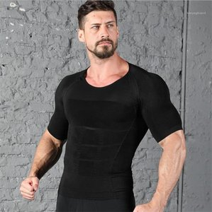 Burn Chest Waist Trainer Slimming Tops Bodybuilding Solid Color Mens Gym Clothes Soft Mens Tanks Body Shapers Fat