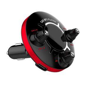 معدن + ABS سيارة اف ام الارسال لBluetooth الإصدار 4.0 يدوي مواد ذات جودة عالية MP3 راديو محول شاحن # WL1