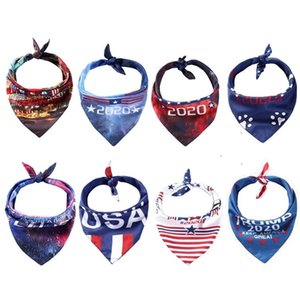fashion 8 style Dog and cat accessories pet Triangle scarf 2020 presidential election trump Biden pet dog scarf 300pcs T500198