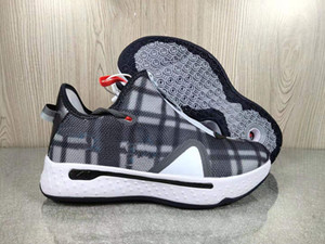 Paul George PG 4 Basketball Shoes With Box Gatorade x NASA Zipper Zoom Men Grey 4s Sports 2020 New Arrival Zapatos Trainers Shoes