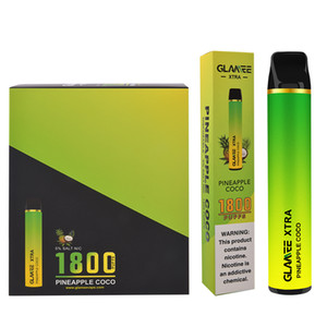 Disposable vape cartridges puff bar cartridge packaging Glamee xtra electronic cigarette e cigarette vertical coil 1800 puffs #2
