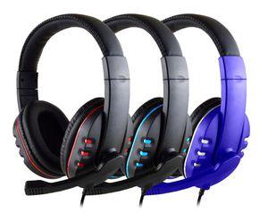 Wired Gaming-Kopfhörer Gamer Headset Spiel-Kopfhörer mit Mikrofon für PS4 Play Station 4 X Box One PC Bass Stereo-PC-Headset