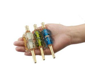 Shisha cachimba Boquilla Boca Consejos luminosa del diamante del metal de la cachimba del filtro cómodos Gadgets hecho a mano de la pipa de la boca Cachimbas Consejos LSK861
