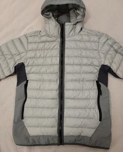 새로운 다운 재킷 최고 겨울 코트 화이트 아래로 오리 작성 후드 자켓 S-3XL 블랙 / 다크 그레이 / 그레이 # 40124