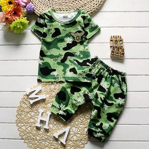 Abiti 2PCs neonato Little Boy vestiti del partito dei capretti ragazzi del bambino dei vestiti T-shirt + pants militry Camouflage Outfits Sets