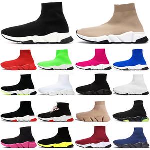 erkekler kadınlar hız eğitmeni Sneakers çorap ayakkabı Graffiti black white Clearsole tripler étoile beige shoelace mens trainer outdoor platform casual shoes