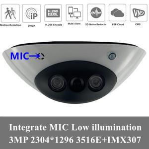 4PCS MIC Audio IP Dome Camera Sony IMX307+3516EV200 3MP 2304*1296 H.265 Low illumination IRC Onvif CMS XMEYE Motion Detection