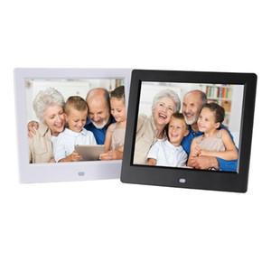 Pratico da 8 pollici Previsioni Meteo Clock Macchina Digital Photo Frame Portable Player elettronico