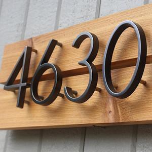 125mm Floating House Number Letters Big Modern Door Alphabet Decoration Outdoor 5 in Black Numbers Address Plaque Dash Slash Sign #0-9