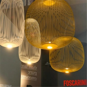 Post Modern Foscarini Spokes Pendant Lights Industrial Bird Cage Luminaire Dining Room Living Room Home Decor Led Hanging Lamp
