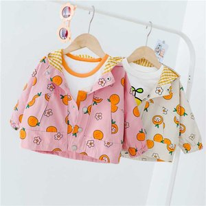 HYLKIDHUOSE Baby Coats 2020 Autumn Infant Newborn nette Karikatur-Kapuzenjacke Kleidung für Kinder Kinder Freizeit Ober
