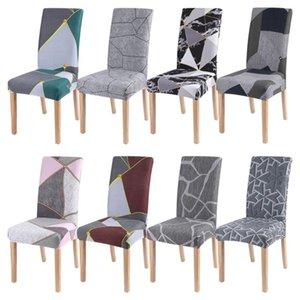 1/2/4 / 6pc géométrique Chaise Spandex Couverture extensible élastique Slipcover Chair Seat Cover Pour Salle à manger Cuisine mariage Banquet Hôtel