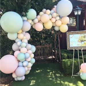 12inch Paste Giant Round Balloons Baby Shower Birthday Party Wedding Decoration Macaron Latex Balloons Pink Blue Big Globos 100pcs bag